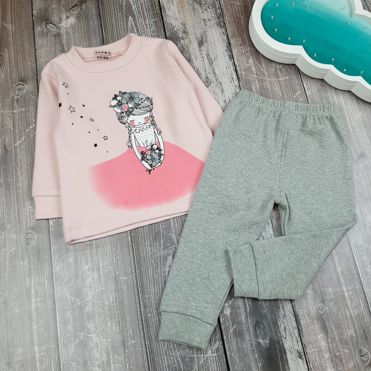 Детская пижама Девочка 80, 90