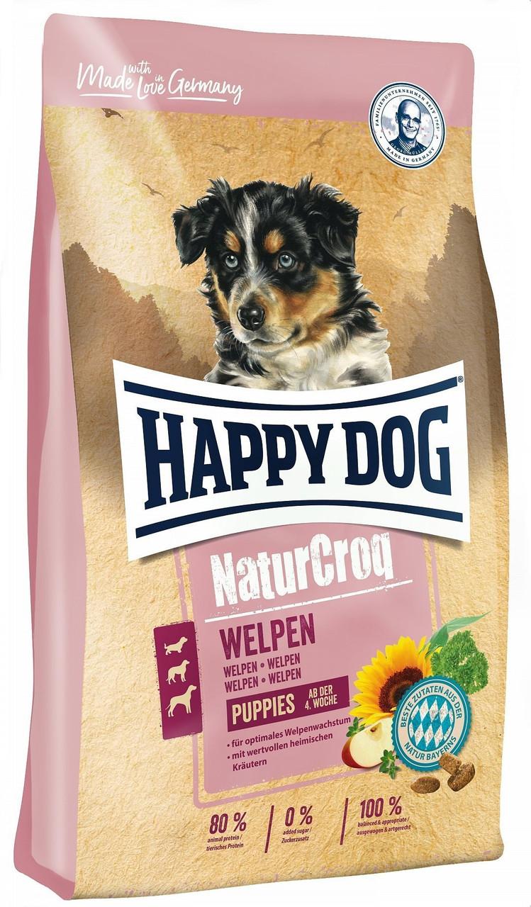 Happy Dog NaturCroq Welpen корм для щенков всех пород и размеров в возрасте от 4 недель, 4 кг