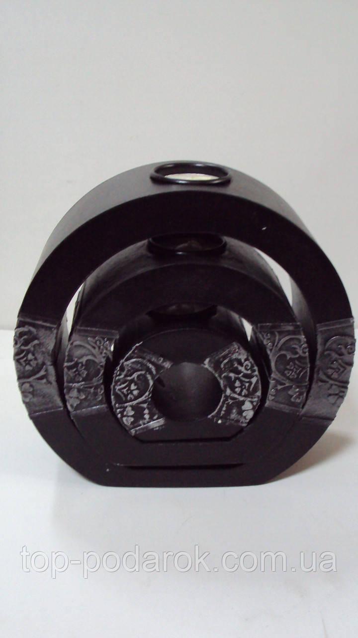 Подсвечник  керамический тройной