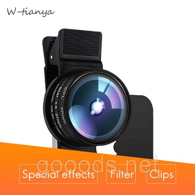 Поляризационный фильтр для телефона, CPL линза W-Tianya