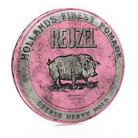 Помада для укладки волос Reuzel pink heavy hold grease