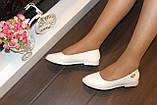 Балетки женские белые Т340, фото 5