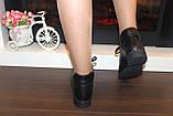 Ботинки женские черные натуральная кожа Д603, фото 5