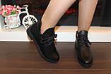 Ботинки женские черные натуральная кожа Д603, фото 6