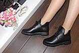 Ботинки женские черные натуральная кожа Д603, фото 7
