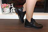 Ботинки женские черные натуральная кожа Д603, фото 8