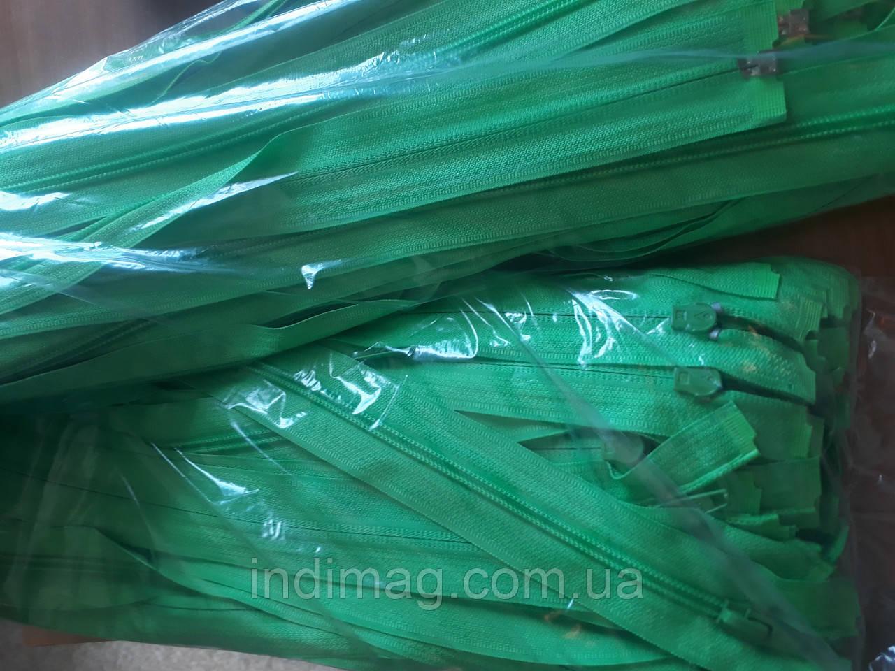 Молния змейка Пластик  салатовый  50 штук