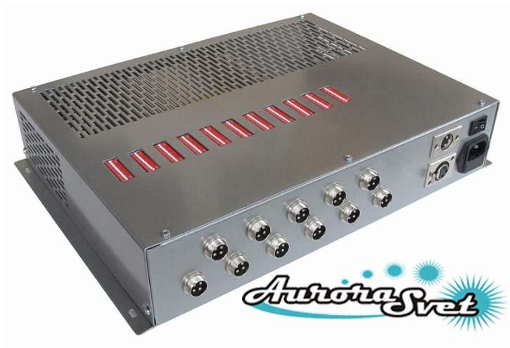БУС-3-11-600MW блок управления светодиодными светильниками, кол-во LED драйверов - 11, мощность 600W