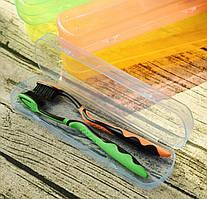 Футляр пластиковый для зубных щеток , салатовый