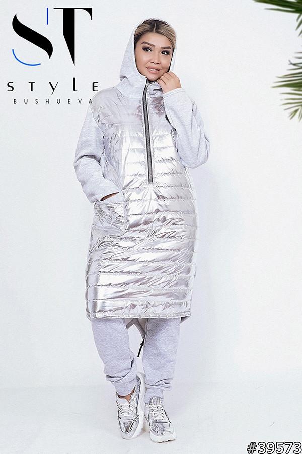 Супер теплое платье-худди трехнить с начесом на синтепоне 48-54р. Отличное качество!