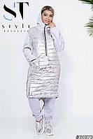 Супер теплое платье-худди трехнить с начесом на синтепоне 48-54р. Отличное качество!, фото 1