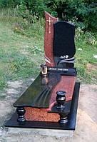Пам'ятник гранітний з червоного каменю