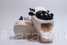 "Домашние теплые тапочки овечки с ушками Sleepy Sheep ""Black/White"" белые, фото 3"