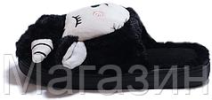 """Домашние теплые тапочки овечки с ушками Sleepy Sheep """"Black"""" черные"""