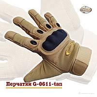 Тактические перчатки защитные с пальцами OAKLEY, хаки, размер L, фото 1