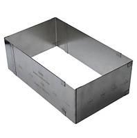 Металлическая раздвижная форма Прямоугольник 18-51, H-100мм Украина