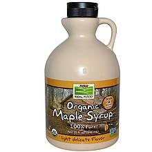 """Органический кленовый сироп NOW Foods """"Organic Maple Syrup"""" средний янтарный, класс А (946 мл)"""