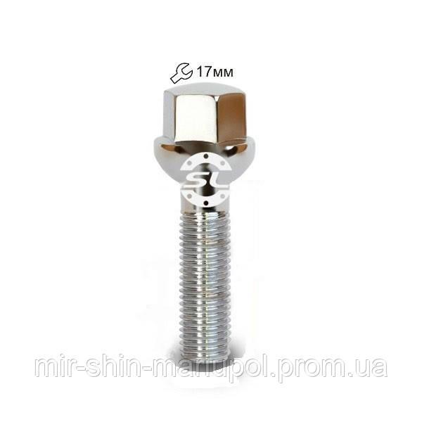 Болт 12*1,5*40мм. сфера хром Ключ 17