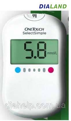 Глюкометр Ван Тач Селект Симпл (One Touch Select Simple)