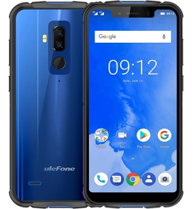 "Смартфон Ulefone Armor 5 Blue 4/64Gb, 16+5/13Мп, Helio P23, 2sim, IP68, 5.85"" IPS, 5000мАч, GPS, 8 ядер, 4G"
