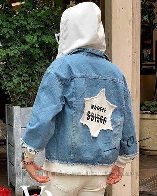 Джинсовая куртка  BK-5179 р:42-44,44-46 036922 серый