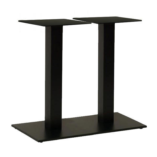 Опора для стола двойная Рона черная 40*70 см (СДМ мебель-ТМ)