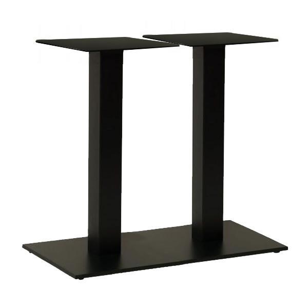 Опора для столу подвійна Рона чорна 40 * 70 см (СДМ меблі-ТМ)