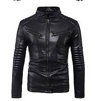 Куртка мотобайкерская мужская с натуральной кожи.