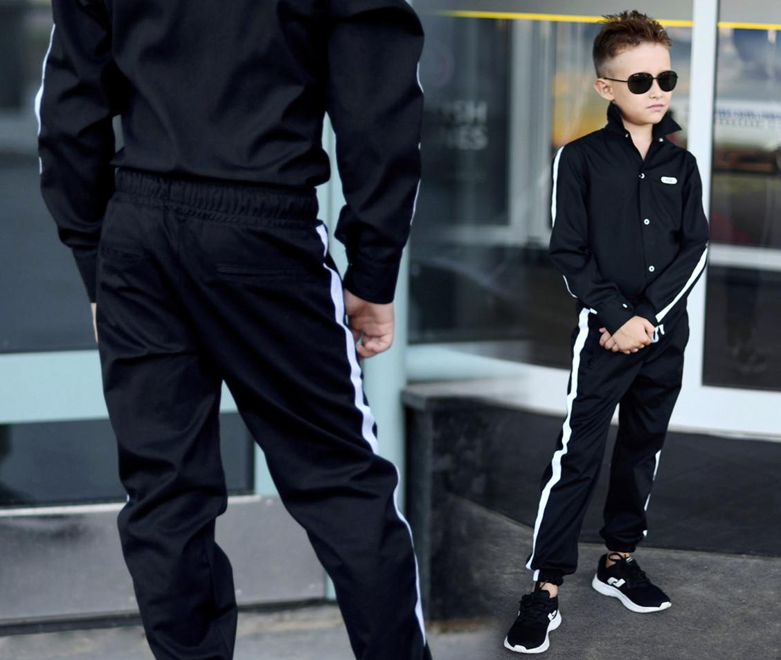 """Детские стильные брюки для мальчика 631 """"Коттон Лампасы Контраст"""" в расцветках"""