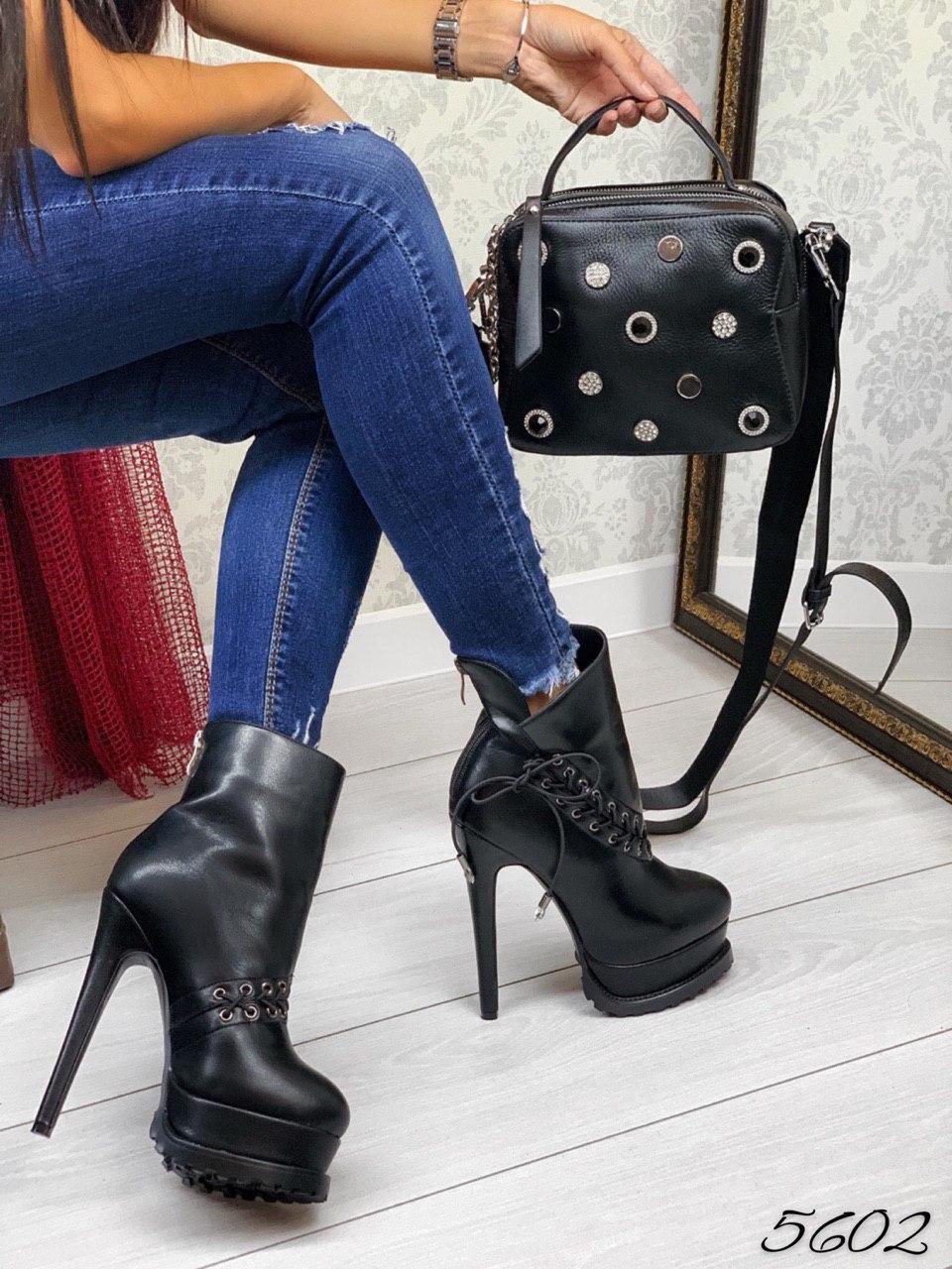 Ботинки демисезон кожа натуральная плетенка из шнурков 41 размеры