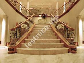 Облицовка лестницы мрамором в Одессе и области