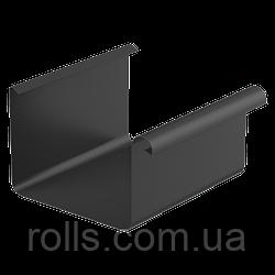 Желоб водосточный прямоугольный 125/80, ринва 4 м.п., цвет Черный RAL9005 Galeco Stal2 галеко