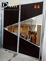 Двери* купе в прихожую - гардероб, ДСП + зеркало