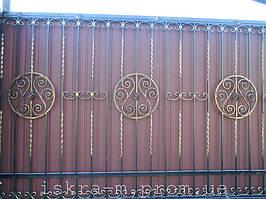 Кованые откатные ворота. Кованая калитка (г. Киев) 4