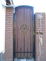 Кованые откатные ворота. Кованая калитка (г. Киев) 6