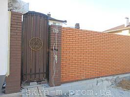 Кованые откатные ворота. Кованая калитка (г. Киев) 7