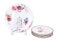 "Набор Lefard 7 предметов ""Камелия"" (6 тарелок 21 см + блюдо стеклянное 26,5), 935-009"