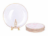 """Набор Lefard 7 предметов """"Виллари"""" (6 тарелок 21 см + блюдо стеклянное 26,5), 935-010"""