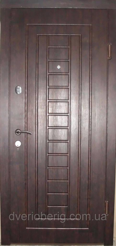 Входная дверь модель П3-153-1 тиковое дерево