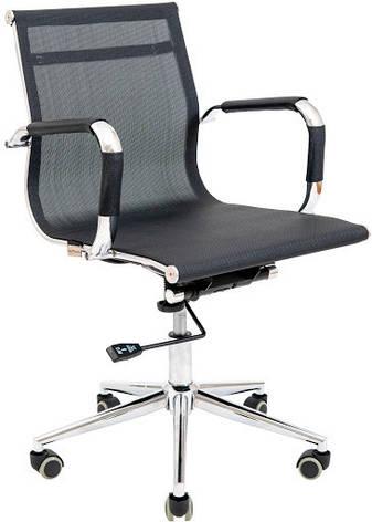 Кресло Кельн Хром LB сетка  Черная, фото 2