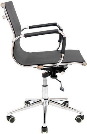 Кресло компьютерное Кельн Хром LB (сетка Черная), фото 2