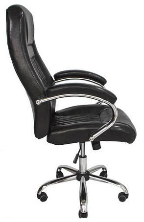Кресло Флоренция Хром  М1 Кожзам глянец черный, фото 2