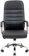 Кресло Лион Хром  М1 кожзам черный, фото 2