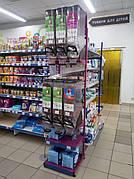 Cтойка стеллаж для диспенсеров, емкостей для сыпучих продуктов