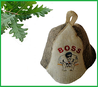 "Шапка для бани и сауны ""Boss"""