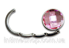 🔝 Крючок для сумки, держатель, Аметист, цвет - розовый | 🎁%🚚