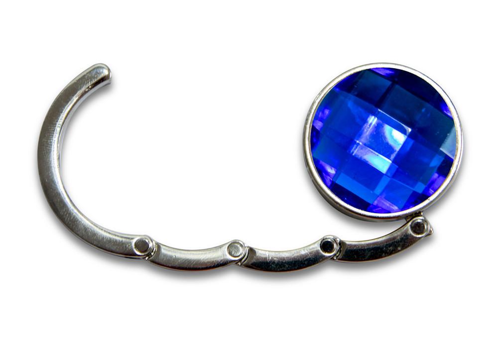Вешалка для сумок, крючок держатель, Аметист, цвет - синий