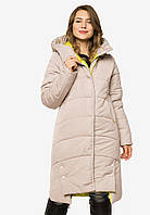 Довга зимова жіноча куртка утеплена Modniy Oazis перли 90398, фото 1