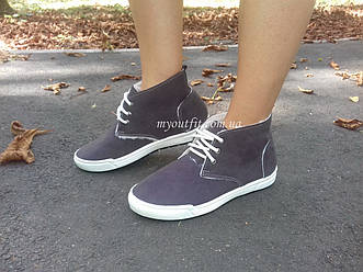 Женские тёплые ботинки Серые