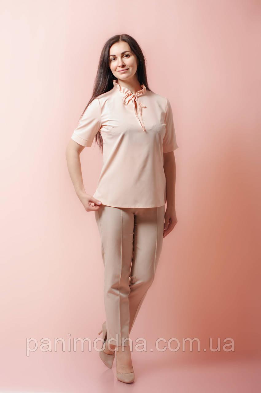 """Блуза женская """"Рюша"""". От производителя - швейная фабрика."""